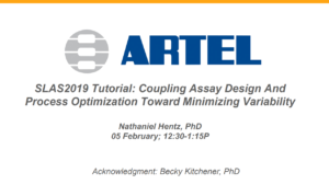 Coupling assay design and process optimization toward minimizing variability