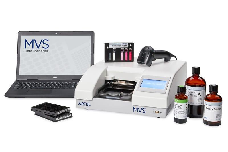 MVS liquid handling instrument.